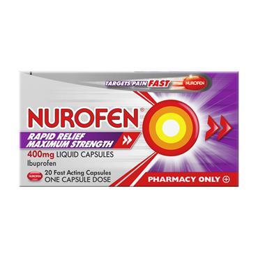 Nurofen Ibuprofen Rapid Relief Max Strength 400mg  20 Capsules