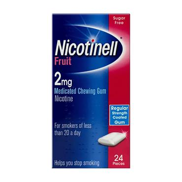 Nicotinell Fruit 2mg Gum 24 Pack