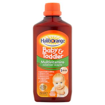 Haliborange Baby & Toddler Multivitamin Orange Liquid 250ml