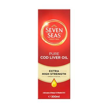 Seven Seas Extra High Strength Cod Liver Oil Liquid 300ml