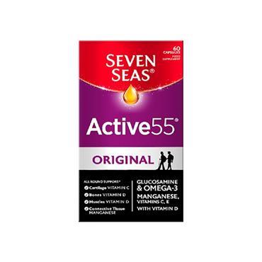 Seven Seas Active55 Omega-3 & Glucosamine 60 Capsules