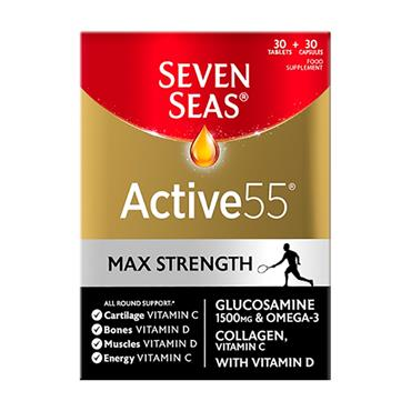 Seven Seas Active55 Max Strength 1500mg Glucosamine 30 Tablets & 30 Capsules