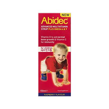 Abidec Advanced Multivitamin Syrup Plus Omega 3 Raspberry 150ml