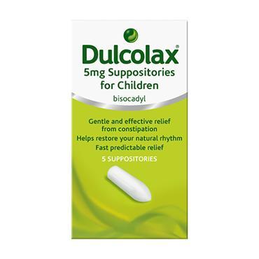 Dulcolax 5mg Bisacodyl Suppositories for Children 5 Pack