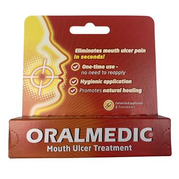 Oralmedic Mouth Ulcer Treatment Two Treatments Pack