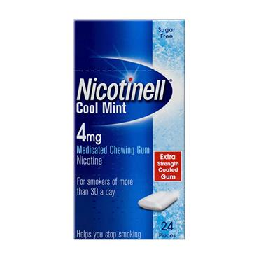 Nicotinell Cool Mint 4mg Gum 24 Pack