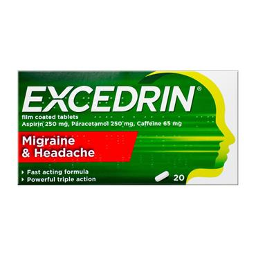 Excedrin Migrane & Headache Tablets 20 Pack