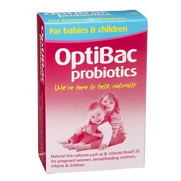 OptiBac Probiotics For Babies & Children 30 Pack