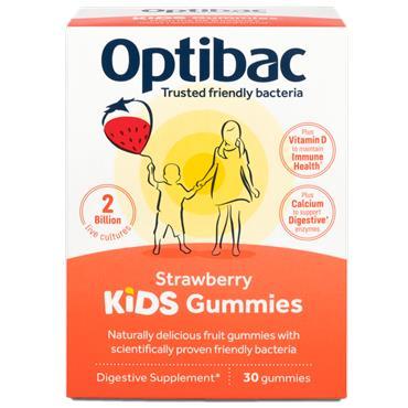 Optibac Probiotics Kids Gummies Strawberry Flavour 30 Pack