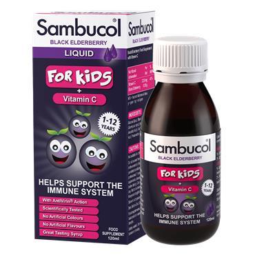 Sambucol Black Elderberry Liquid For Kids + Vitamin C 120ml