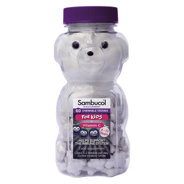 Sambucol Kids Chewable Teddies 60 Pack
