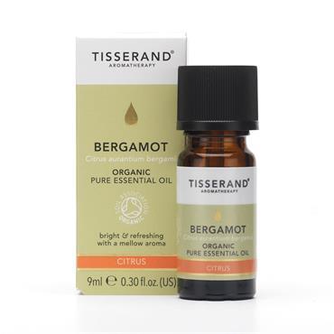 Tisserand Organic Bergamot Pure Essential Oil 9ml
