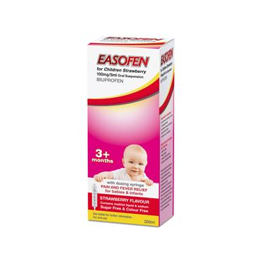 Easofen For  Children 3months+ Strawberry Oral Suspension 200ml