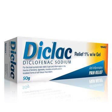Diclac Relief 1% Anti-Inflammatory Pain Relief Gel 50g