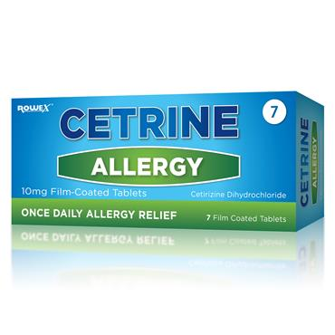 Cetrine Allergy Relief 10mg Cetirizine Tablets 7 Pack