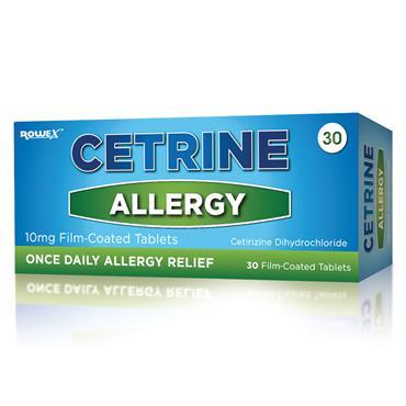 Cetrine Allergy Relief 10mg Cetirizine Tablets 30 Pack