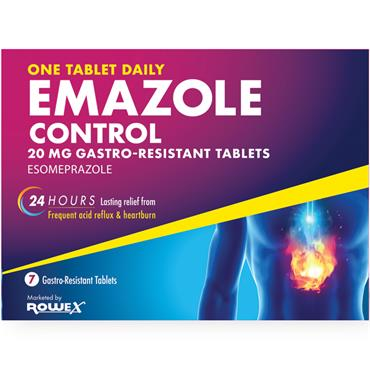 Emazole Control 20mg Esomeprazole Tablets 7 Pack
