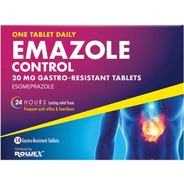 Emazole Control 20mg Esomeprazole Tablets 14 Pack