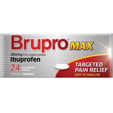 Brupro Max Ibuprofen 400mg Tablets 24 Pack