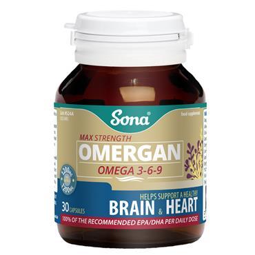 Sona Omergan Omega 3-6-9 1200mg 30 Capsules
