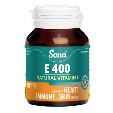 Sona E400 Vitamin E 30 Capsules