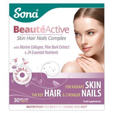 Sona BeauteActive Skin Hair Nails Complex 30 Tablets