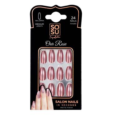 SoSu False Nails By Suzanne Jackson Our Rose
