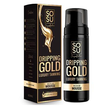 SoSu Dripping Gold Luxury Tanning Mousse Medium 150ml