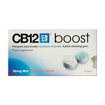 CB12 Boost Chewing Gum Strong Mint 10 Pack