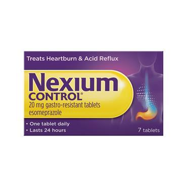 Nexium Control 20mg Esomeprazole Tablets 7 Pack