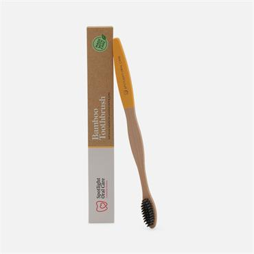 Spotlight Oral Care Bamboo Toothbrush Yellow