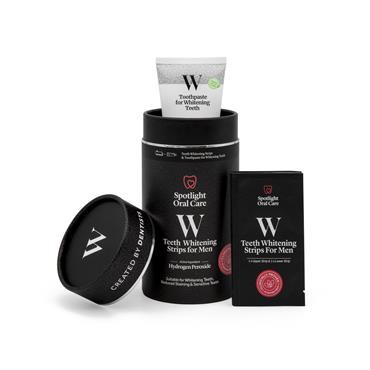 Spotlight Oral Care Teeth Whitening Kit for Men(28 Strips & 100ml Toothpaste)