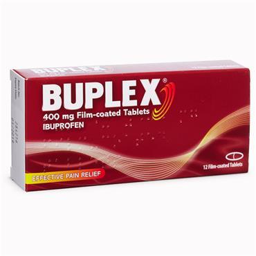 Buplex Ibuprofen 400mg Film Coated Tablets 24 Pack