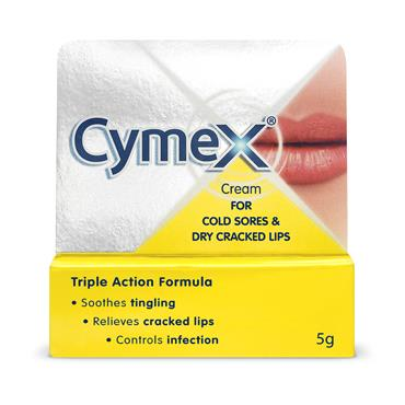 Cymex Cream For Cold Sores & Dry Cracked Lips 5g