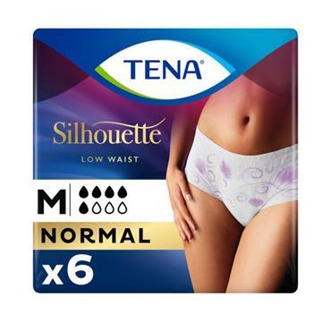 Tena Silhouette Low Waist Underwear Medium Normal Flow 6 Pack