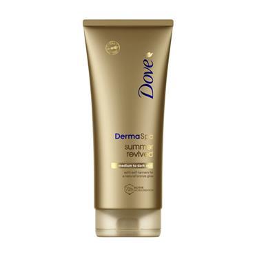 Dove Derma Spa Summer Revived Gradual Tanning Lotion Medium To Dark Skin 200ml
