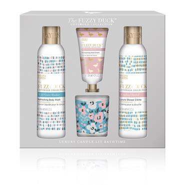 THE FUZZY DUCK COTSWOLD FLORAL CANDLE SET