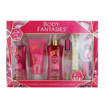 BODY FANTASIES PINK VANILLA KISS 5 PIECE SET