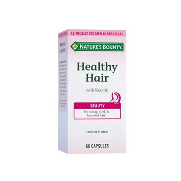 NATURES BOUNTY HEALTHY HAIR WITH KERATIN 60S