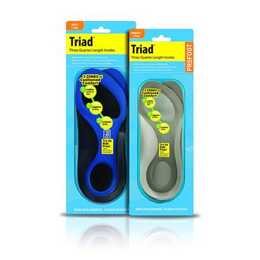 PROFOOT TRIAD MENS 3/4 INSOLE ONE SIZE