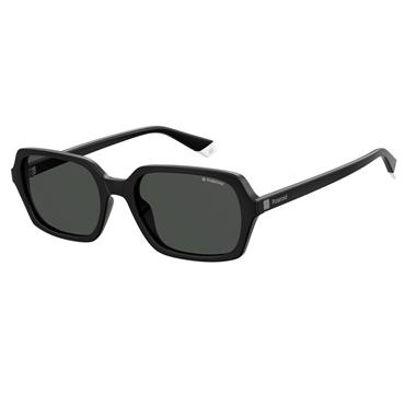 POLAROID BLACK SUNGLASSES WITH WHITE TIP