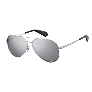 POLAROID SUNGLASSES SILVER METAL AVIATOR