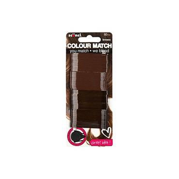 SCUNCI COLOUR MATCH BROWN HAIR PINS X60
