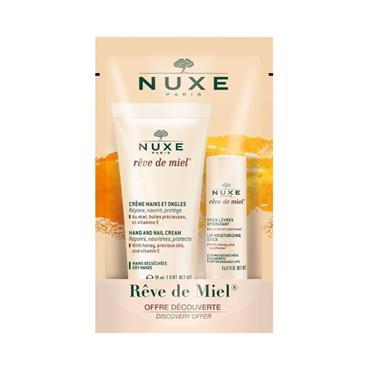 NUXE HAND NAIL CREAM+LIPSTICK