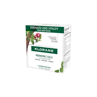 KLORANE HAIR SUPPLEMENT CAPS WITH KERATIN AND QUININE FOR HEALTHY HAIR, 30 DAYS