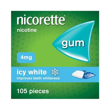GUM ICY WHITE 4MG 105 PACK