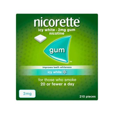 GUM ICY WHITE 2MG 210 PACK