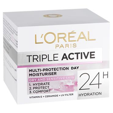 TRIPLE ACTIVE DAY CREAM DRY & SENSITIVE SKIN 50ML