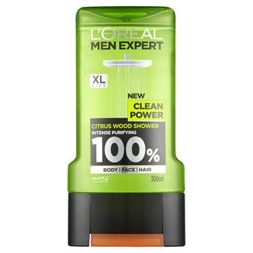 MEN EXPERT CLEAN POWER SHOWER GEL 300ML