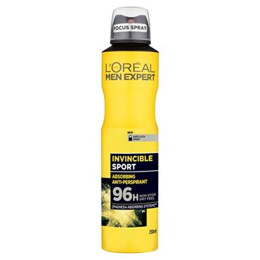MEN EXPERT INVINCIBLE SPORT 96H ANTI-PERSPIRANT DEODORANT 250ML
